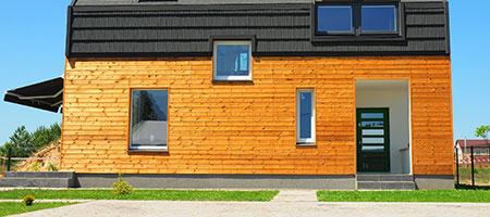 Gevelbekleding van hout Nieuwegein